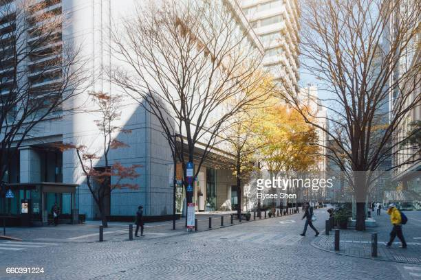 street of marunouchi, tokyo - 丸の内 ストックフォトと画像