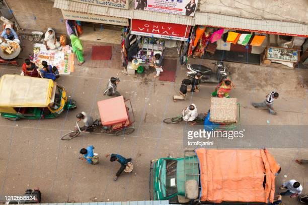 street of old delhi - fotofojanini foto e immagini stock