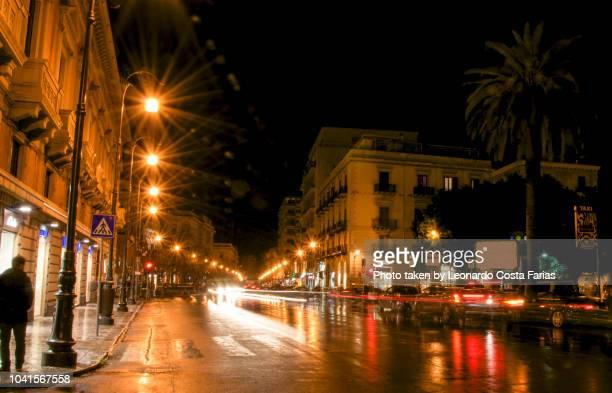 street of palermo - leonardo costa farias stock photos and pictures