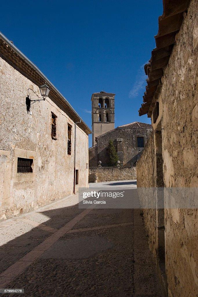 Street of Pedraza, Segovia, Castilla y Leon. : Stock Photo