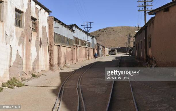Street of Pulacayo, a former mining center near the Uyuni salt flat, in the Potosi department, Bolivia on July 20, 2011. The Uyuni salt flat has an...