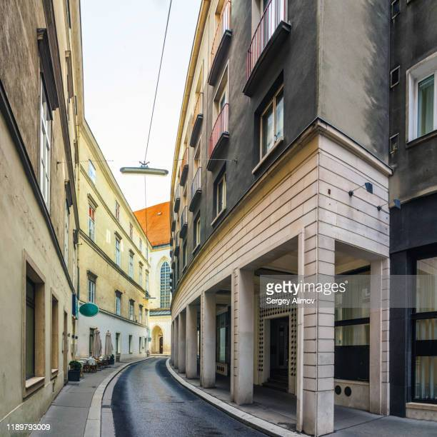 street of renaissance style in vienna innere stadt - stadt stock pictures, royalty-free photos & images