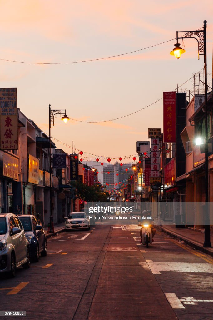 Street of the George Town, Penang, Malaysia : Stock Photo