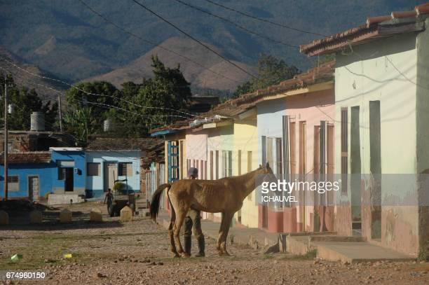 street of trinidad cuba - personne humaine stock-fotos und bilder