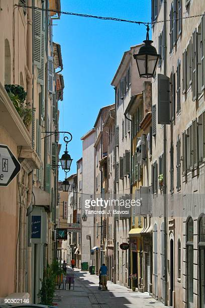 street of ttoulon, south of france - bavosi stock pictures, royalty-free photos & images