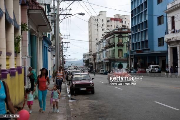 Street of Vedado district of Havana in Cuba