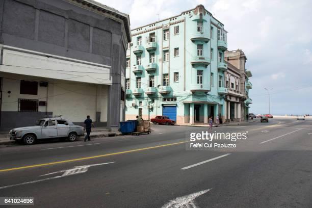 Street of Vedado of Havana in Cuba