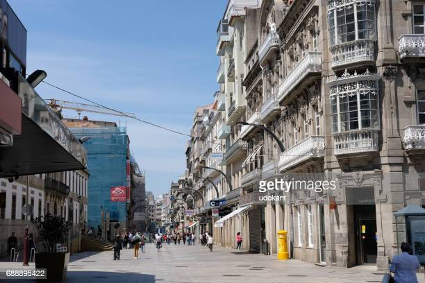 street of vigo, spain - provincia di pontevedra foto e immagini stock