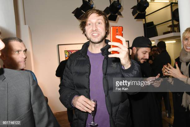 Street Painter Nasty attends ÔÔBirth of The WindÕ JonOne PreviewÊÈ at Galerie Brugier Rigail on March 13 2018 in Paris France