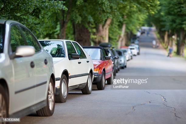 Parken entlang der Straße