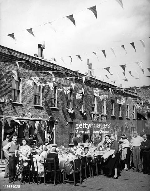 UNSPECIFIED 1953 street party in England to celebrate the Coronation of Queen Elizabeth II