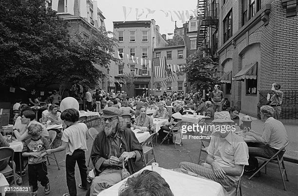 A street party in New York City circa 1976