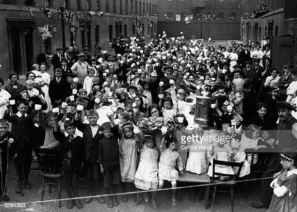 A street party to mark the end of World War I