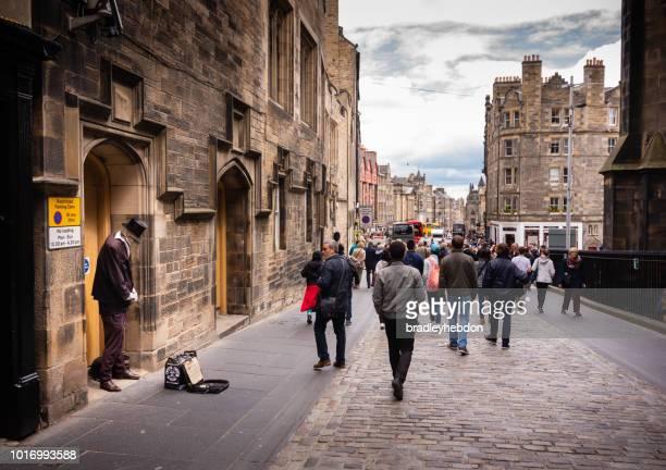 Street performer as Invisible Man along The Royal Mile, Edinburgh