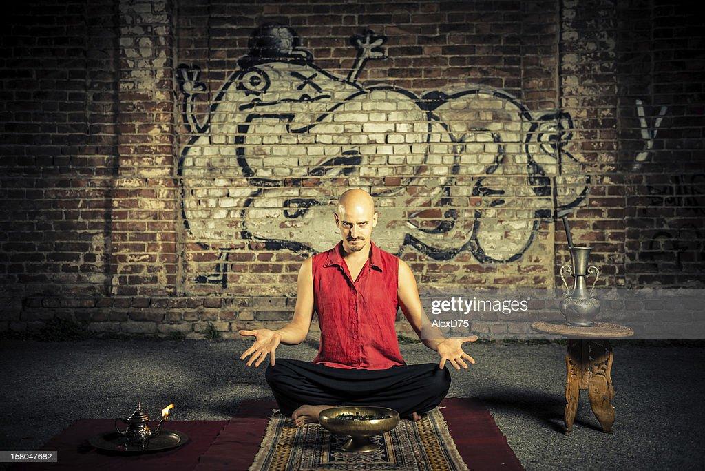 Artista de Rua Faquir : Foto de stock