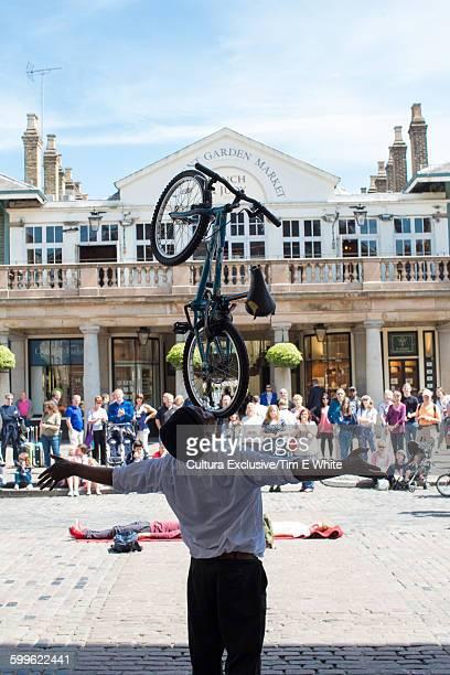 Street performer in Covent Garden, London, UK