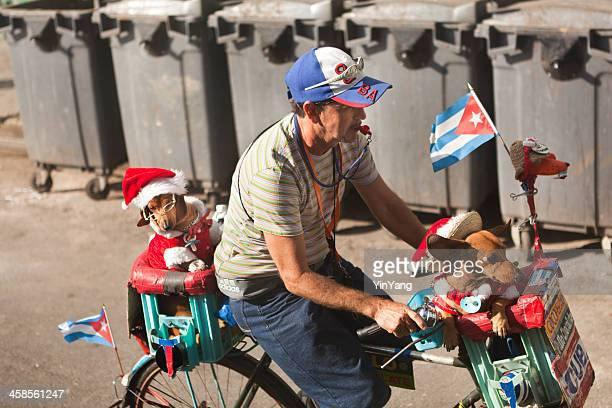street performer in havana cuba - dachshund christmas stock pictures, royalty-free photos & images