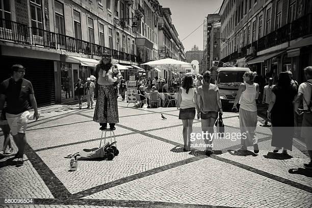 Street Performer in Lisbon