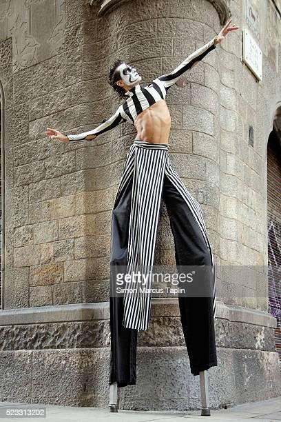 Street Performer on Stilts