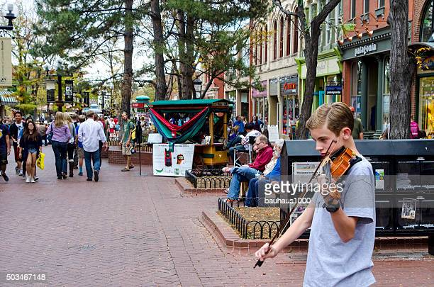 Street Performer: Pearl Street Mall in Downtown Boulder, Colorado