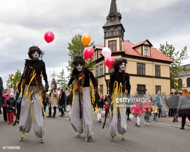 Street performers during Independence Day, Reykjavik, Iceland