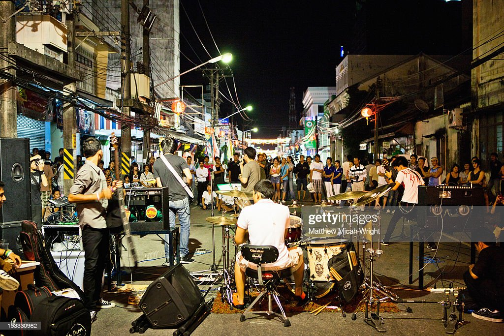 Street performers in Thailand. : Stock Photo