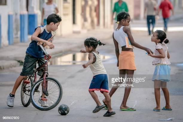 Street play at dusk Havana