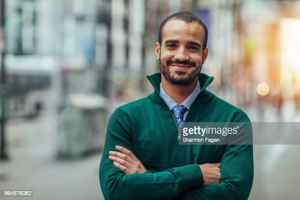street portrait of a young businessman - southern european descent stock pictures, royalty-free photos & images