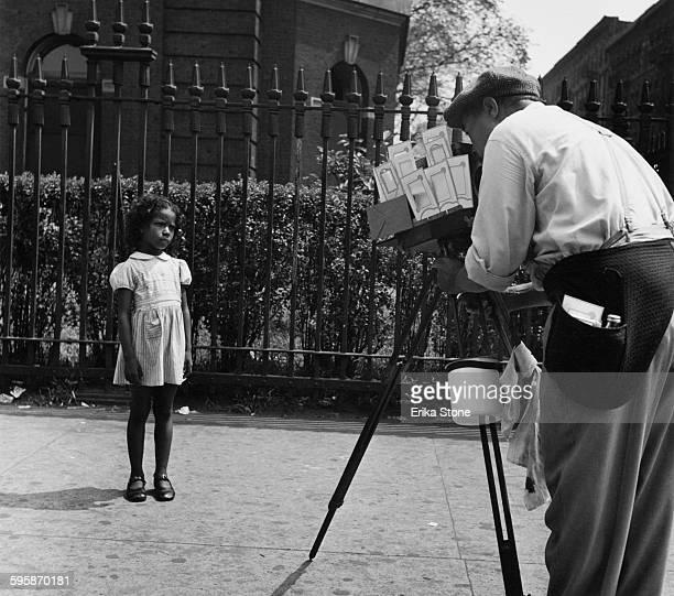 A street portrait photographer in Harlem New York City circa 1955