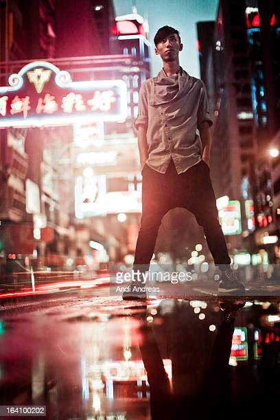 street portrait - fashion hong kong stock photos and pictures