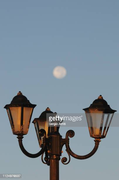 Street Post Lantern with moon