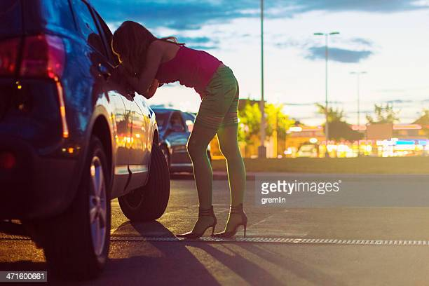 street prostitute of eastern europe - hoeren stockfoto's en -beelden