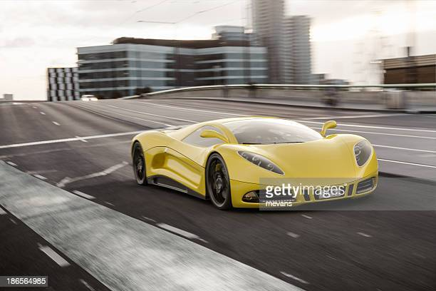 street racing - futuristic car stock pictures, royalty-free photos & images