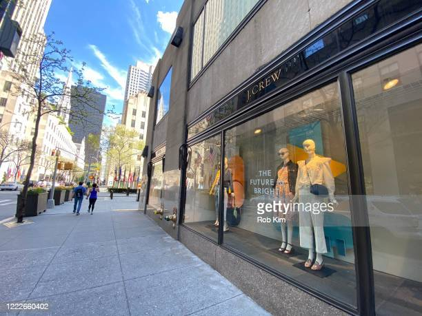 A street remains mostly deserted near a J Crew store during the coronavirus pandemic on May 3 2020 in New York City COVID19 has spread to most...
