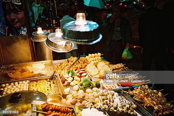 Street Restaurant At Night