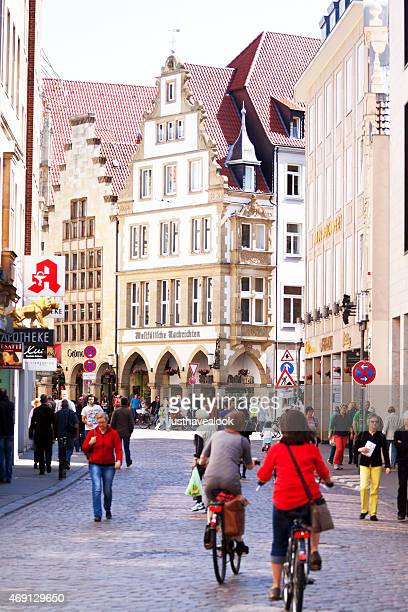street と prinzipalmarkt münsterローテンブルクで - ミュンスター市 ストックフォトと画像