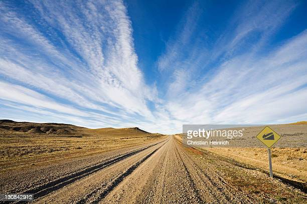 Street Ruta 40 in the south of Argentina, Patagonia, South America