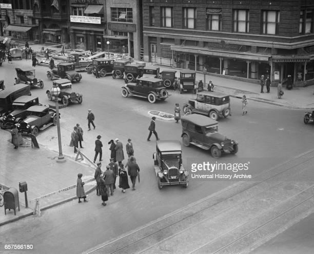 Street Scene 13th and G Streets Washington DC USA National Photo Company 1924