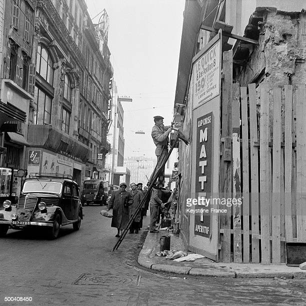 Street scene 1956 in Marseille France