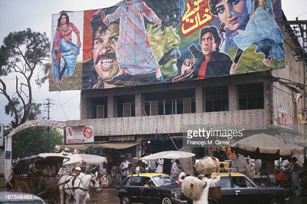 Street scene along Hamilton Road in Rawalpindi, Pakistan, April 1993