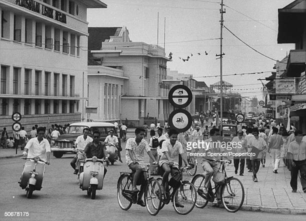 Street scene and traffic in Western Java
