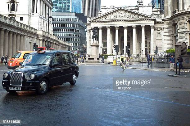 A street scene at Bank junction in front of the Royal Exchange on April 25 2016 in London England The Blitz aerial bombing offensive lasted for eight...