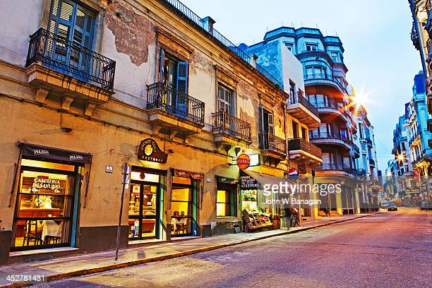 street scene, central montevideo, uruguay - montevideo stock pictures, royalty-free photos & images
