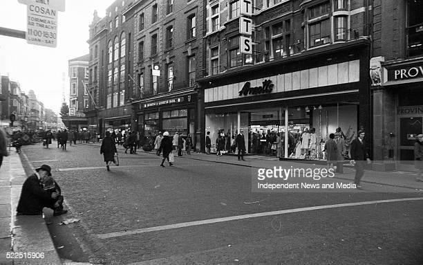 Street scene circa 1972 Visible is 'Arnotts' 372223