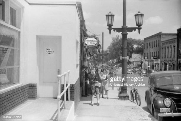Street Scene Door Marked White Ladies Only Durham North Carolina USA Jack Delano Office of War Information May 1940
