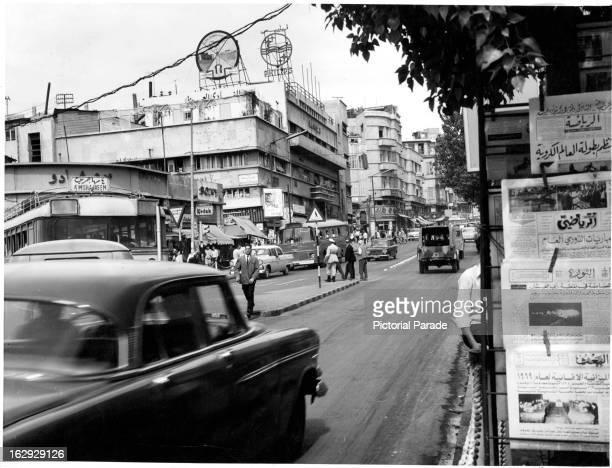 Street scene from Beirut Lebanon