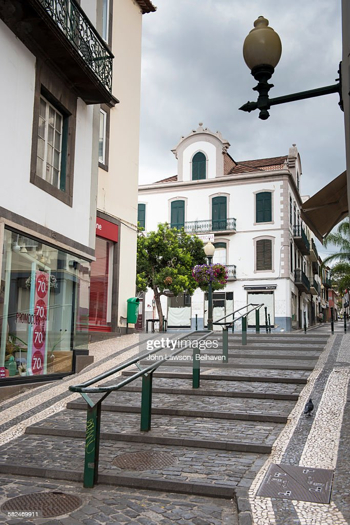 Street scene, Funchal, Madeira : Foto de stock