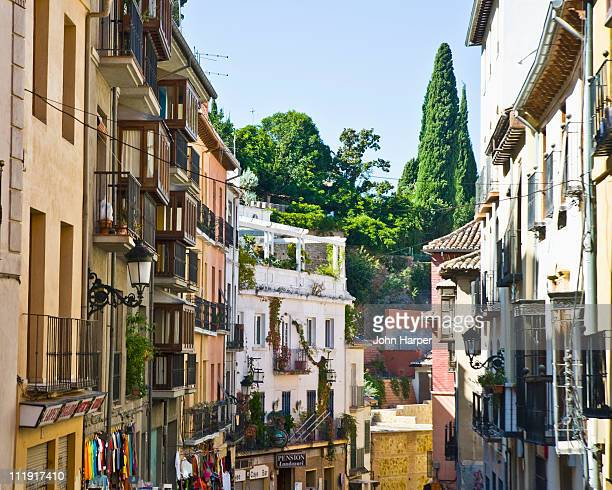street scene, granada, andalucia, spain - granada spain stock pictures, royalty-free photos & images