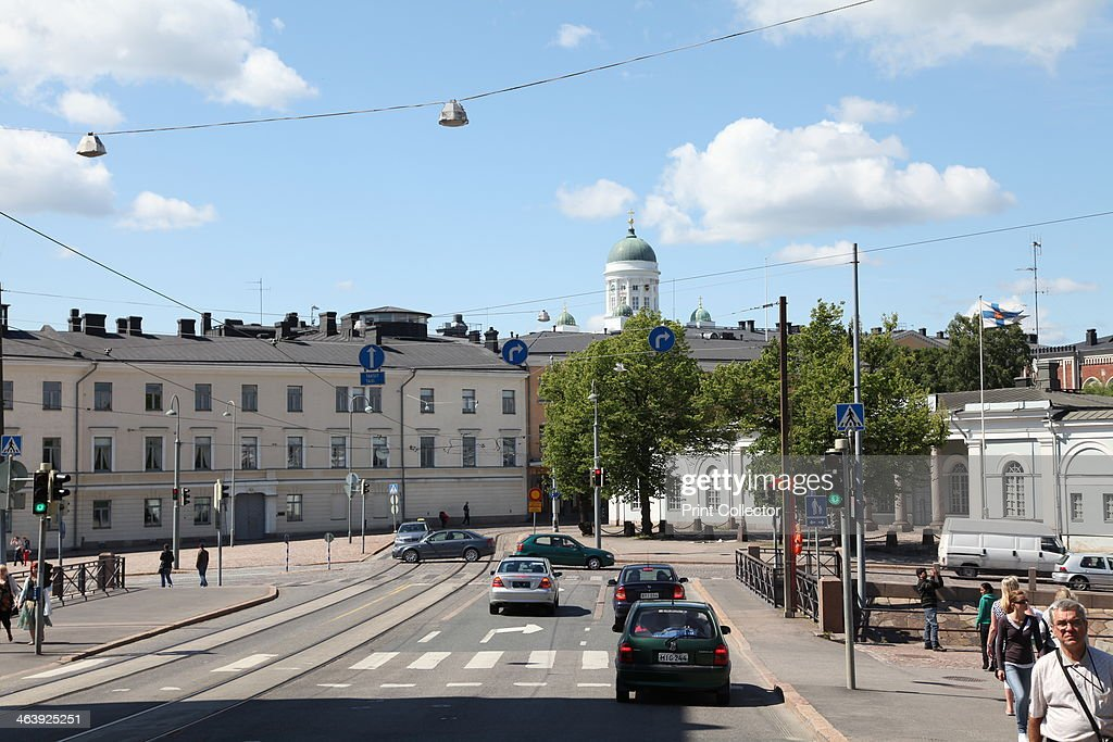 Street scene, Helsinki, Finland, 2011. Artist: Sheldon Marshall : News Photo