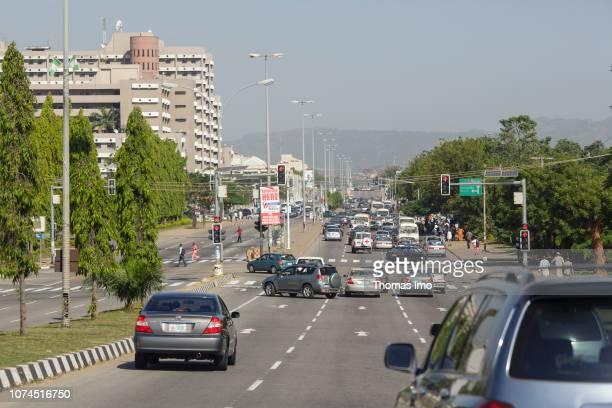 Street scene in Abuja on November 12, 2018 in Abuja, Nigeria.